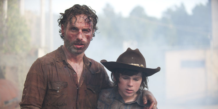 The Walking Dead's Rick and Carl