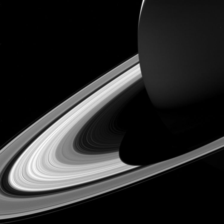 Saturn's shadow on the rings