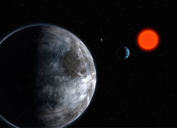 artwork depicting exoplanet Gliese 581c