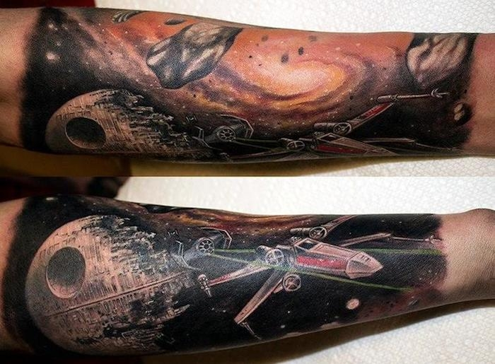 image of the day stunning star wars sleeve tattoo syfywire. Black Bedroom Furniture Sets. Home Design Ideas