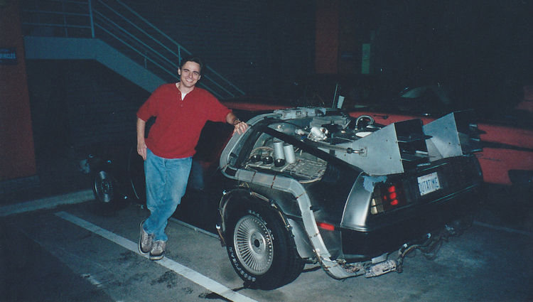 OUTATIME director Steve Concotelli with the DeLorean