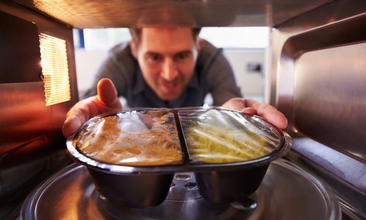 commercial cleaning break room microwave