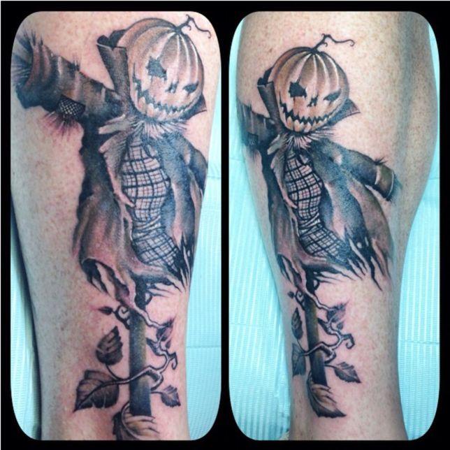 halloween tattoo pumpkin scarecrow