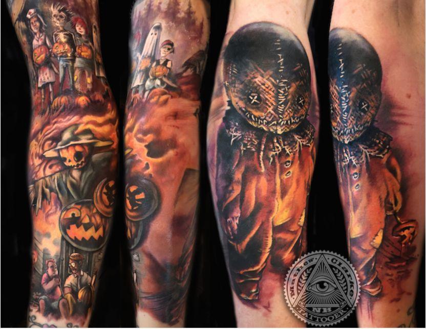 halloween tattoo trick r treat horror