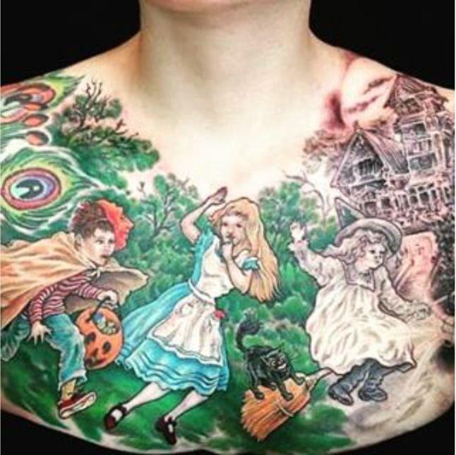 alice in wonderland halloween tattoo