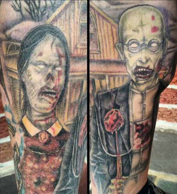 halloween tattoo zombies