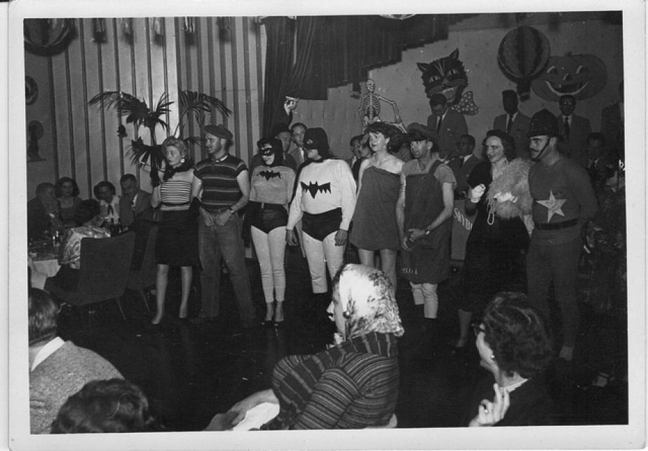 Old Time Batman and Batgirl Halloween Costumes