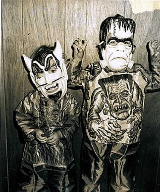 Old Timey Frankenstein and Devil Halloween Costume