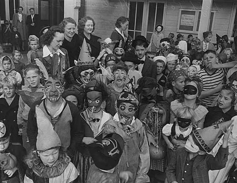 Scary goblins Old timey Halloween Photo
