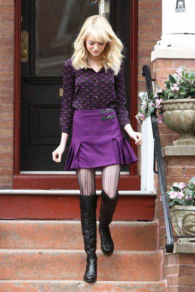 Emms Stone as Gwen Stacy. Does that outfit look familiar?