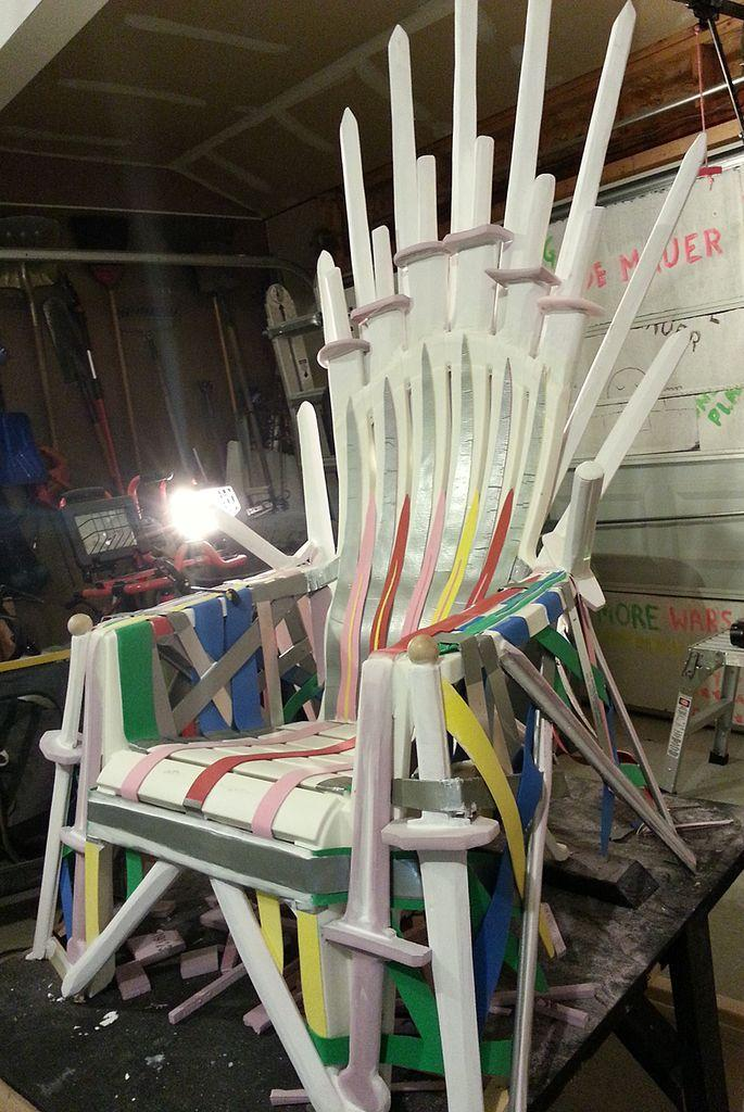 Follow these 7 easy steps to make your own iron throne and for Buy iron throne chair
