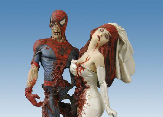 "Zombie Wedding Gifts: Zombie Spider-Man Nothing Screams ""wedding Cake Topper"
