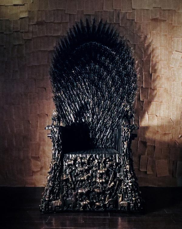 check out this wonderfully wild iron throne forged from children 39 s toys blastr. Black Bedroom Furniture Sets. Home Design Ideas