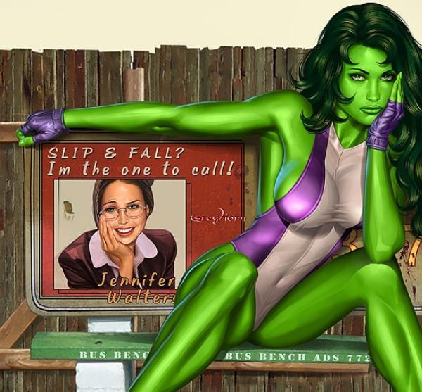 Помимо Халка-Брюса существует Женщина-Халк (She-Hulk), Дженнифер Уолтерс.