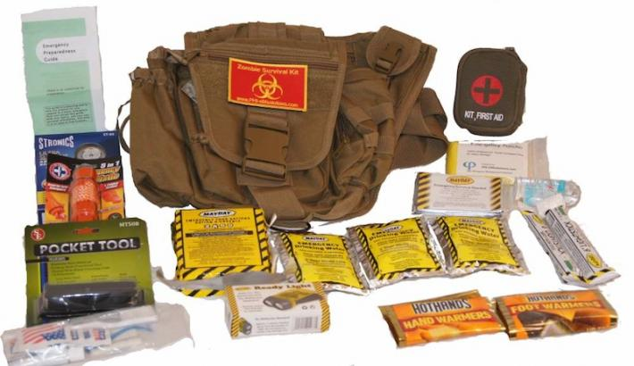 Zombie survival kit advanced tactical sling bag 2014