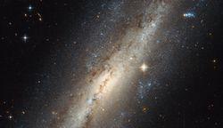 Spiral galaxy NGC 7640