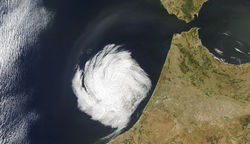cloud swirl over Morocco