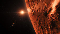 Artwork of planets orbiting TRAPPIST-1