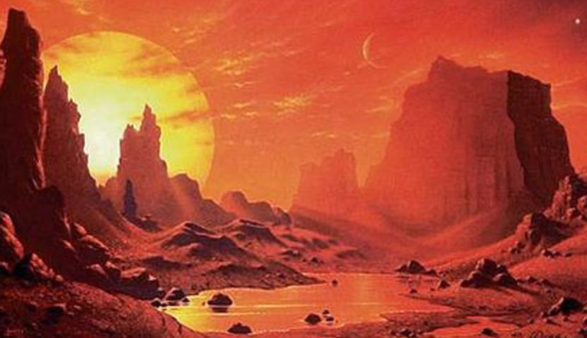 The scorching side of Gliese 581 c as imagined by an artist.