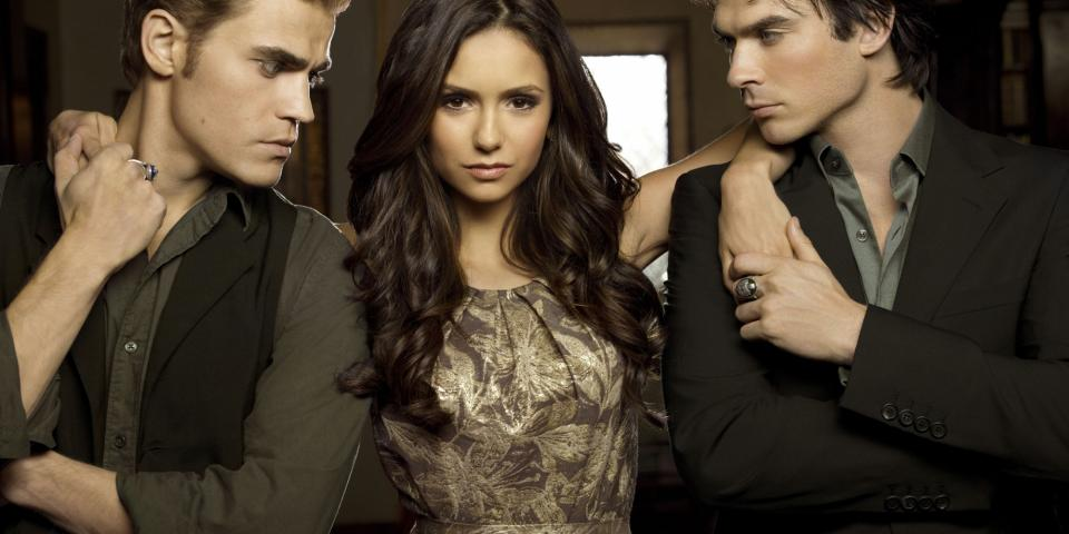 The Vampire Diaries with Stefan, Elena and Damon