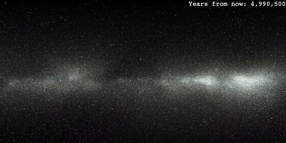 the sky in 5 million years
