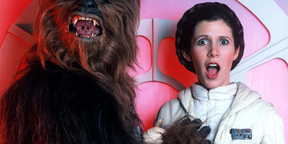 Why George Lucas convinced Carrie Fisher to take her bra off ...