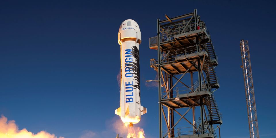 Watch the Highlight Reel of Blue Origin's Successful Rocket Test