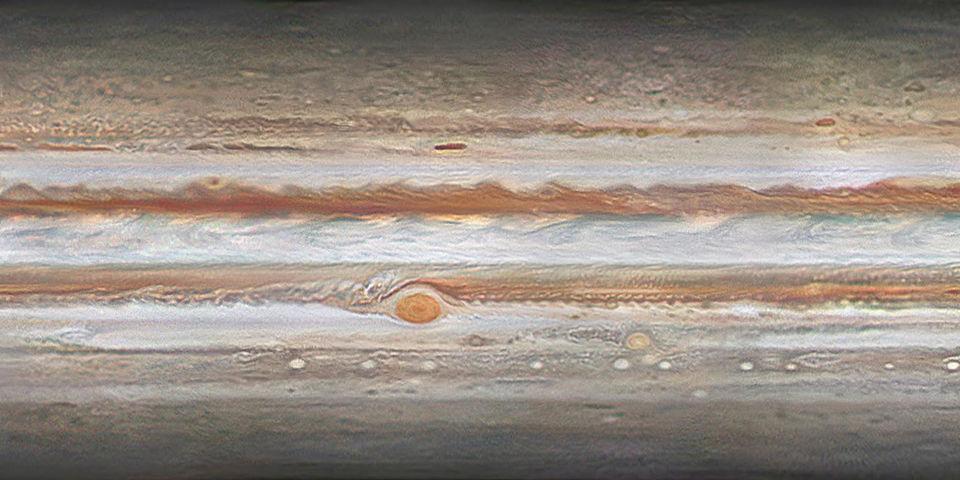 Map of Jupiter