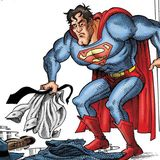 Superman has a really bad day in children's book parody