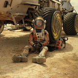 Matt Damon kicks back on Mars in The Martian