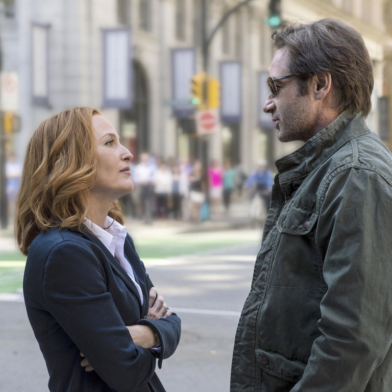 Gillian Anderson and David Duchovny in the X-Files revival