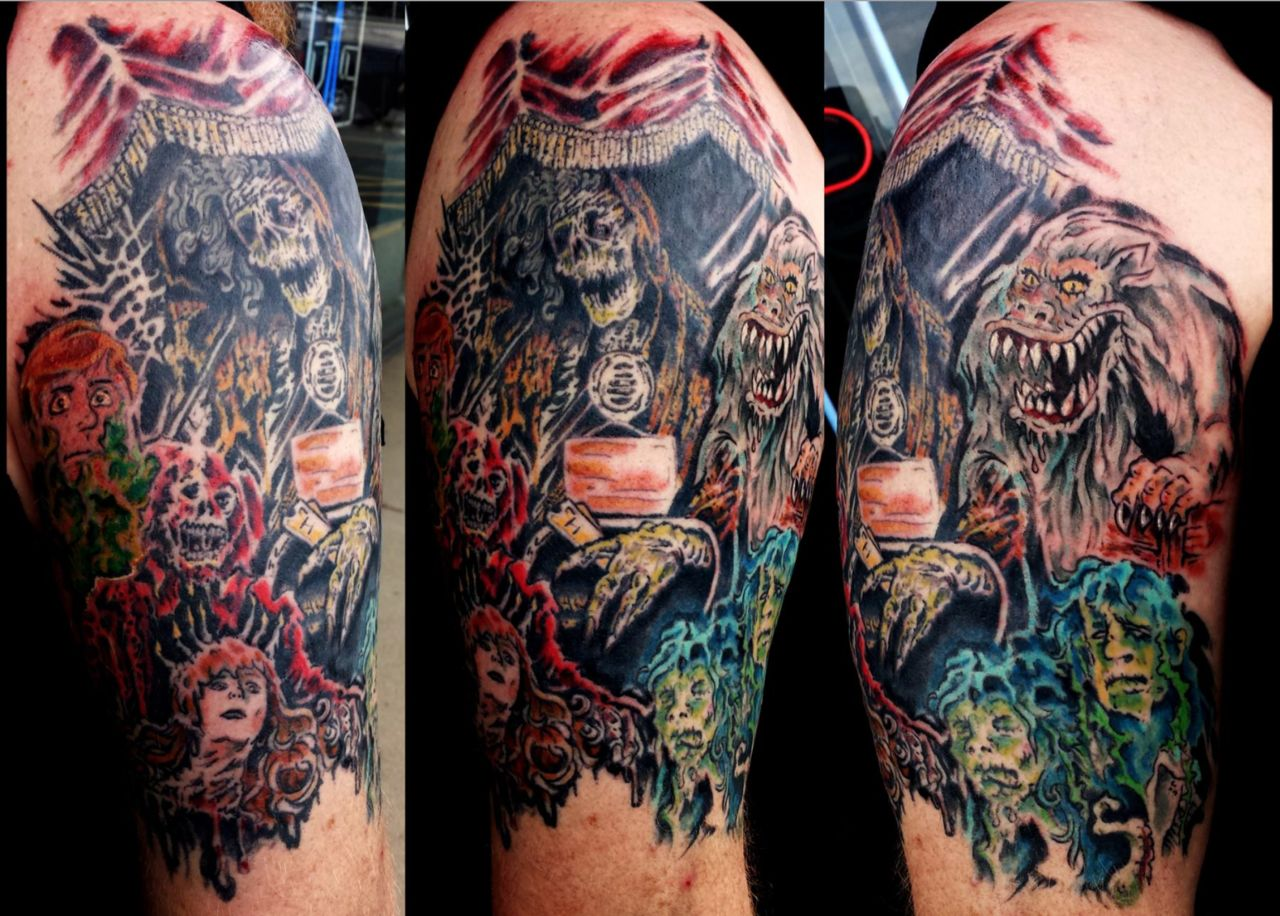 halloween tattoo horror
