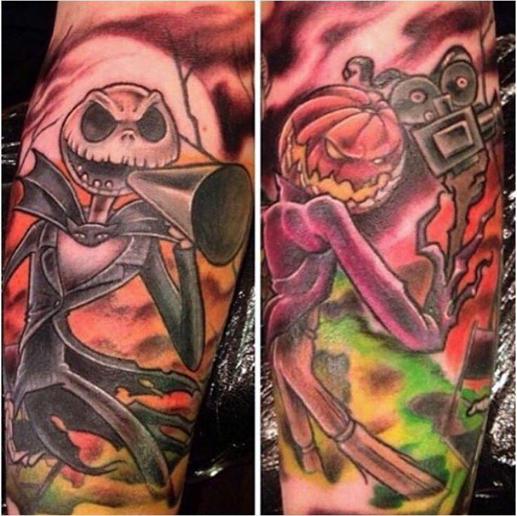 nightmare before christmas halloween tattoo