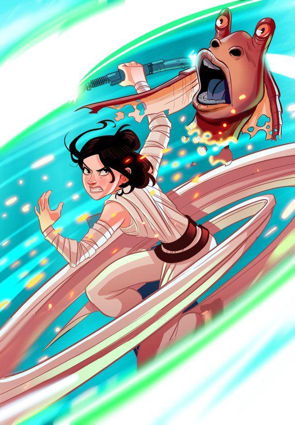 Star Wars: The Force Awakens: Новый комикс по мотивам Пробуждения силы отправляет Рей, Финна и По на охоту на Джа-Джа