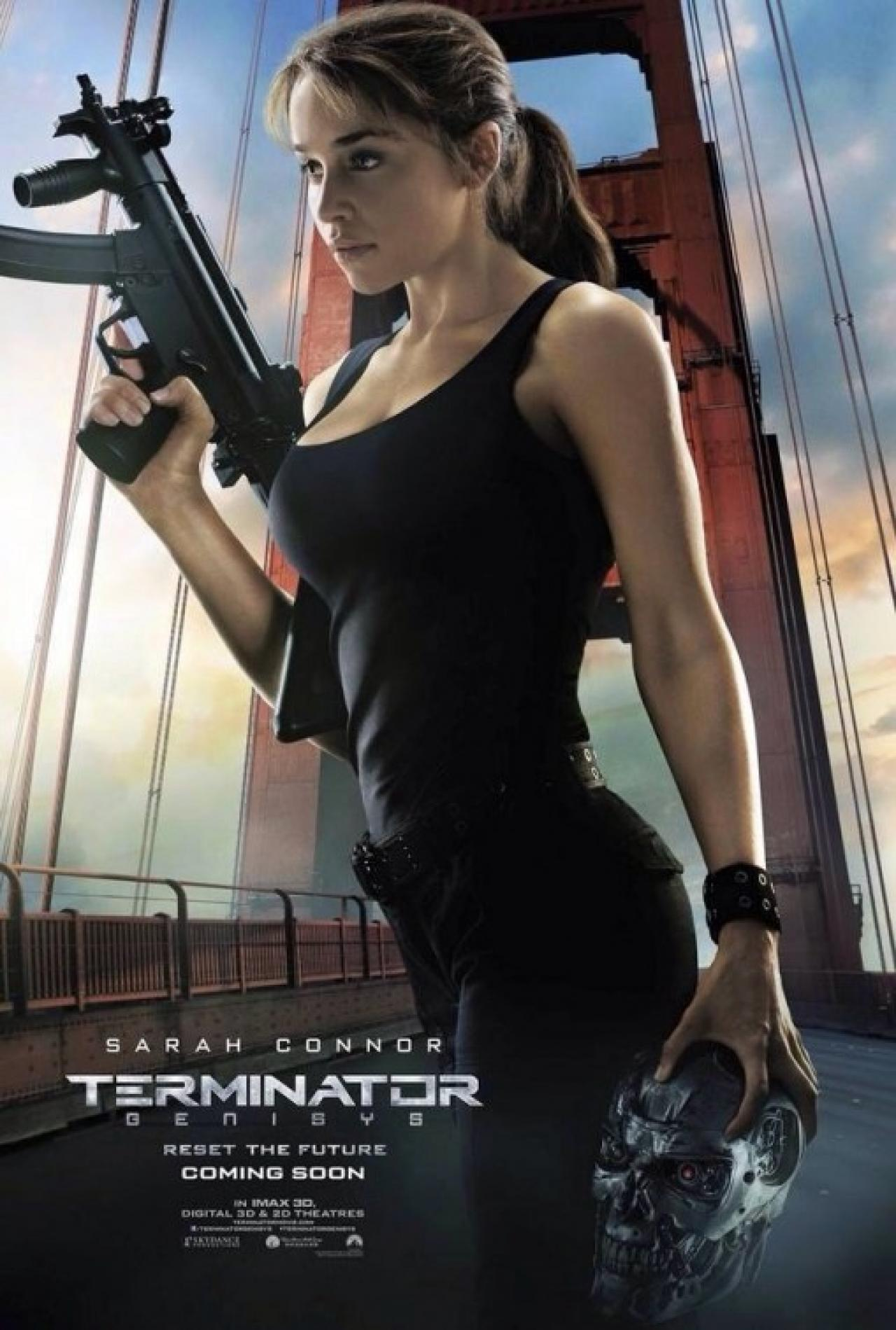 Arnold blasts away in one of five new Terminator: Genisys ...