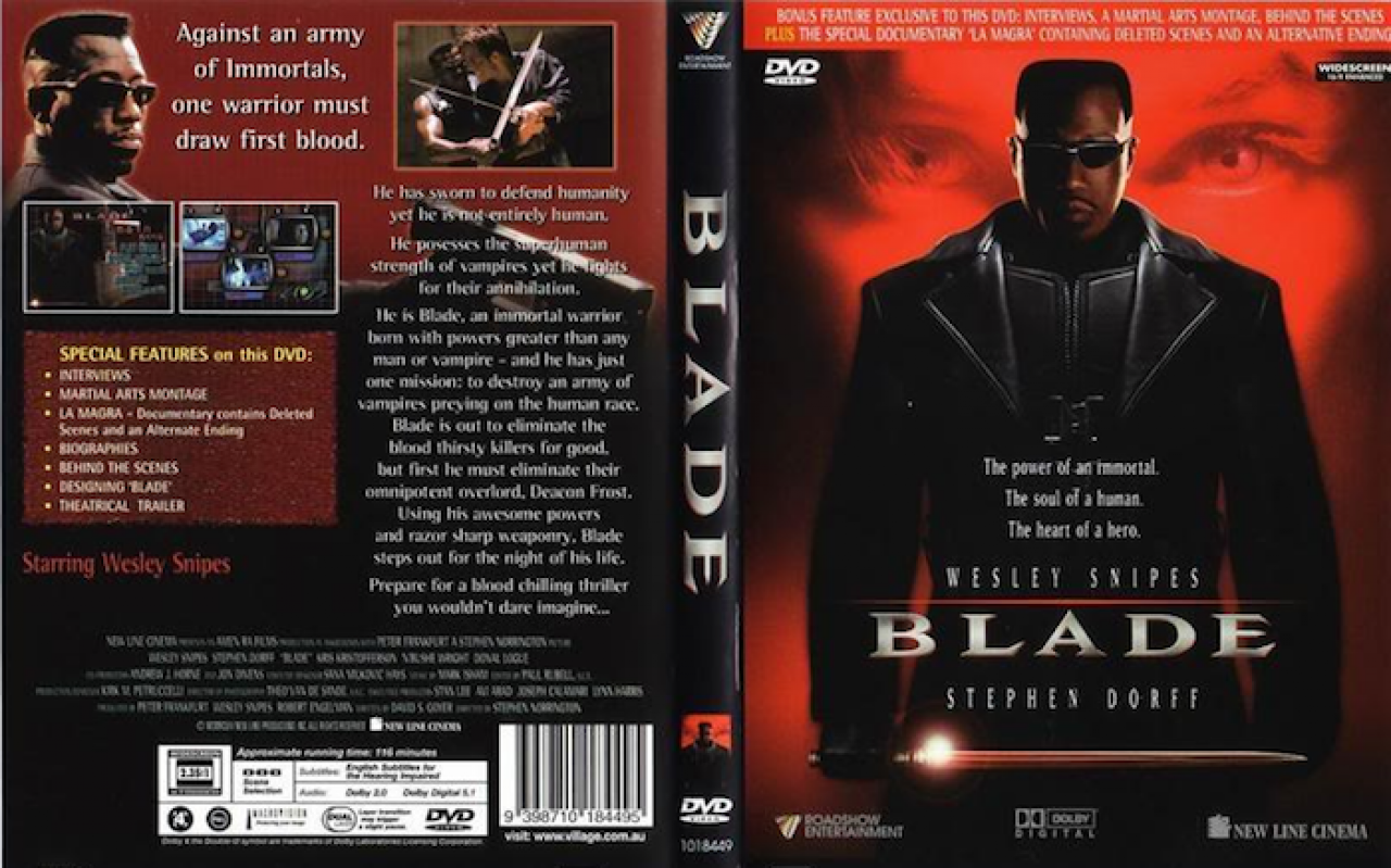 Blade (1998) R4 Blu Ray Cover | Cover Dude
