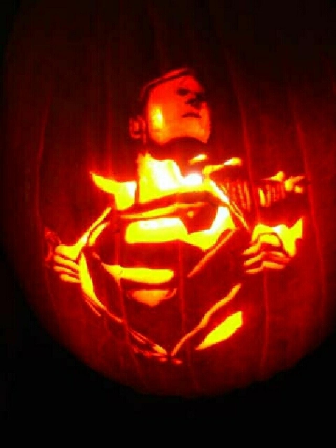 Batman iron man more superhero carved halloween