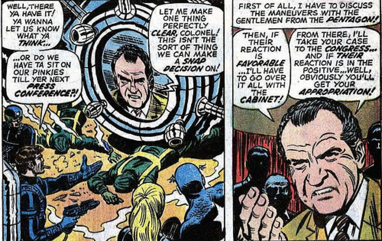 Nixon Administration Cabinet 15 Times Richard Nixon Popped Up In Sci Fi Movies Comics And Tv