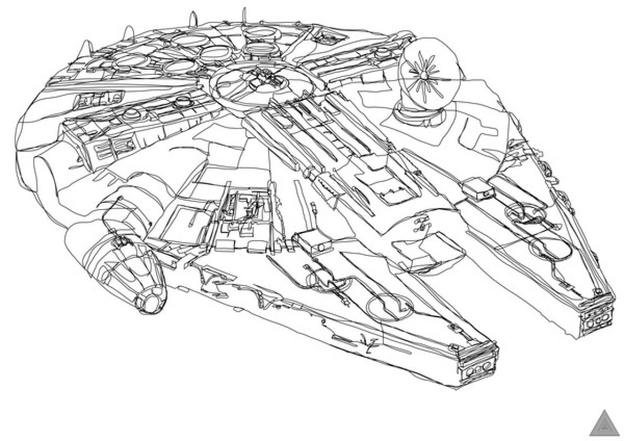 Drawing Lines Without Lifting Pen : Awesome artist draws star wars illustrations without
